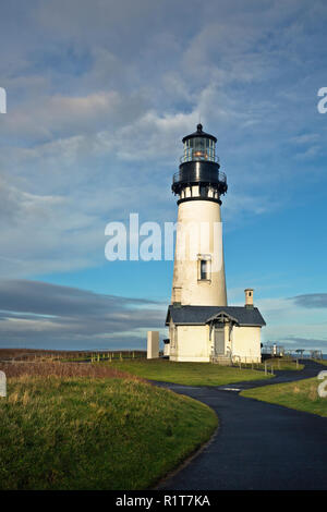 OR02388-00...OREGON - Yaquina Head Lighthouse in the Yaquina Head Outstanding Natural Area. - Stock Photo