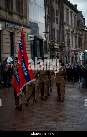 Remembrance Sunday November 11th 2018 Paisley 100th Anniversary Of The End Of WW1 - Stock Photo