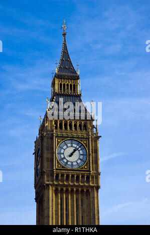 'Big Ben' is the famous neo-gothic clock and tower at the Palace of Westminster, London, England.