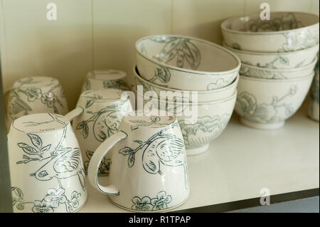 Bird themed tableware - Stock Photo