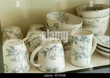 Bird themed tableware - Stock Photo