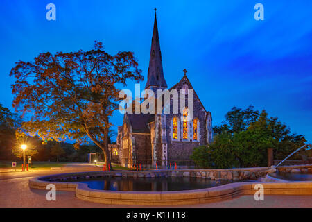 English Church in Copenhagen, Denmark - Stock Photo