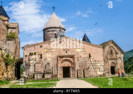 Dilijan, Armenia, August 24, 2018: View of the Church of the Blessed Virgin  of the monastery of Goshavank in the village of Gosh, located near the ci - Stock Photo