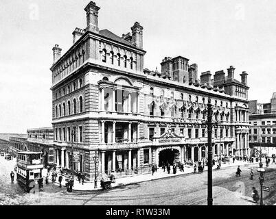 Snow Hill Railway Station, Birmingham early 1900's - Stock Photo