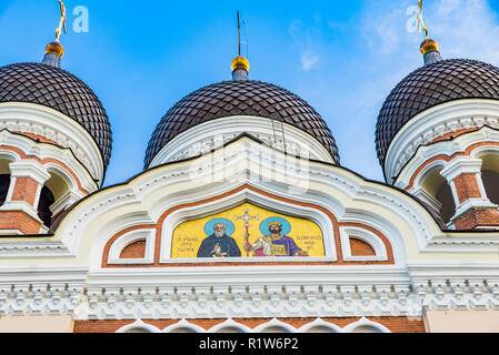 The Alexander Nevsky Cathedral is an orthodox cathedral in the Tallinn Old Town. Tallinn, Harju County, Estonia, Baltic states, Europe. - Stock Photo