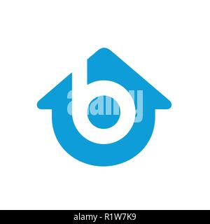 Letter B Home Logo. Sweet Home Logo Template is mostly suited for anything related real estate business, home improvement, studio, team, etc.  Made fr - Stock Photo