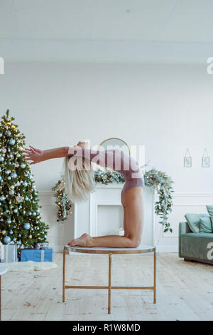 woman stretching in camel exercise stock photo 129651525