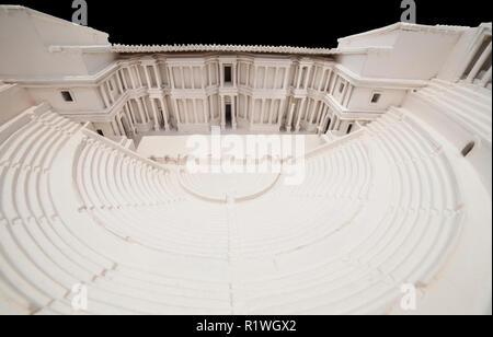 Cartagena, Spain - 2018 Sept 14th: Roman Theater of Cartagena scale model at Roman Theater Museum of Cartagena, Murcia, Spain - Stock Photo