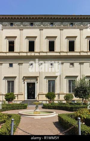 ROME, ITALY - JUNE 23, 2017: Building of Villa Farnesina in Trastavete district in city of Rome, Italy - Stock Photo