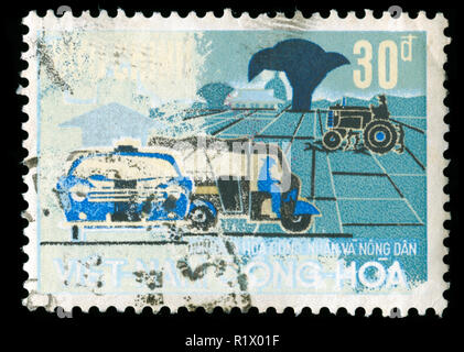 Postage stamp from South Vietnam in the Agricultural Development Center series issued in 1968 - Stock Photo