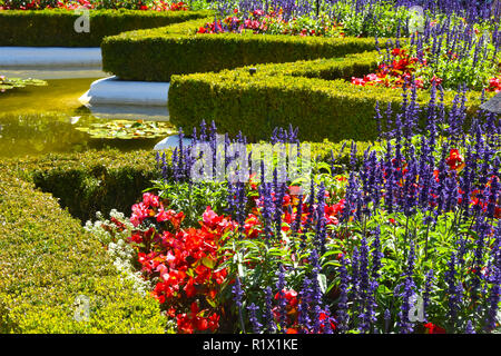 Butchart Gardens in Victoria BC - Stock Photo