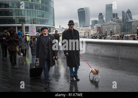 City Hall, London, UK. 13th February, 2016. Author & commentator Will Self and comedian & activist Mark Thomas together with about 60 supporters helpe - Stock Photo
