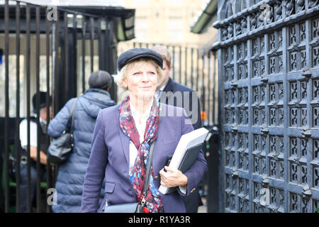 London, UK.15th Nov, 2018. Anna Soubry MP leaves Parliament, Westminster. Penelope Barritt/Alamy Live News - Stock Photo