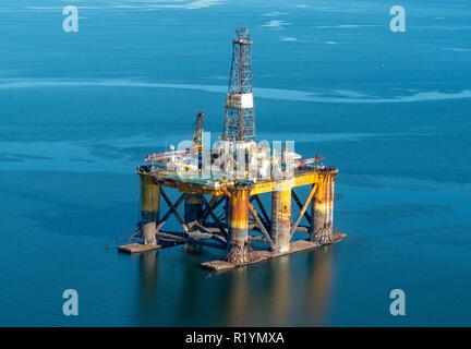 Oil Rig North Sea - Stock Photo