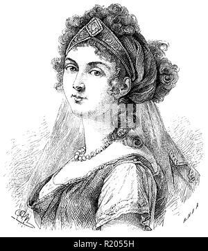 Louise of Mecklenburg-Strelitz (1776–1810), queen of Prussia, - Stock Photo