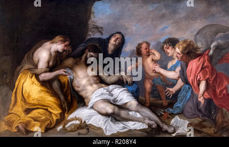 Lamentation over the Dead Christ by Sir Anthony van Dyck (1599-1641), oil on canvas, 1634-40 - Stock Photo
