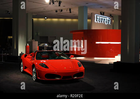 Los Angeles, California / USA - 11/23/2007: Ferrari Display At Auto Show - Stock Photo