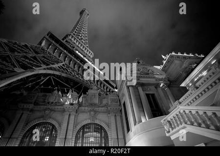 Las Vegas, Nevada / USA - 7/29/2011: Las Vegas Eiffel Tower - Stock Photo