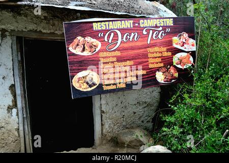 Restaurant in HUARAZ. Department of Ancash.PERU  sauce                   - Stock Photo
