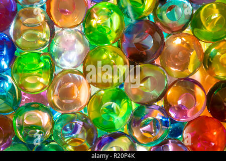 The colorful water beads or water crystal gel use for background - Stock Photo
