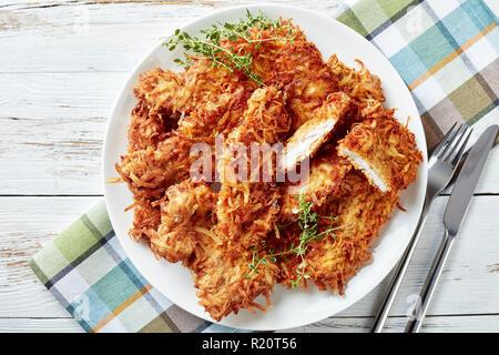 breaded pork chops on a plate Stock Photo: 100724291 - Alamy