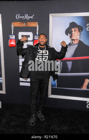 NEW YORK, NY - NOVEMBER 14: Tank attends 'Creed II' World Premiere at AMC Loews Lincoln Square on November 14, 2018 in New York City. - Stock Photo
