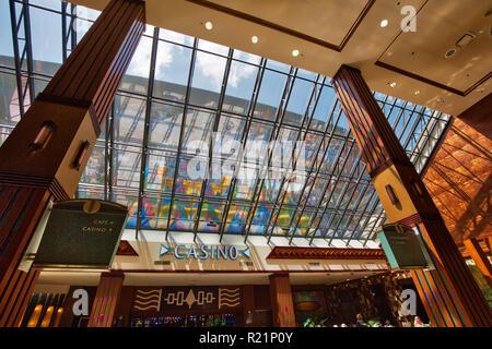 Buffalo, USA-20 July, 2018: Seneca Niagara Casino entrance close to Canadian Border - Stock Photo