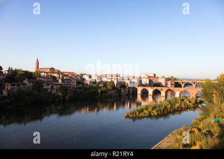 View of the banks of the Tarn, Albi, France - Stock Photo