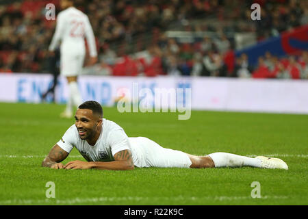London, UK. 15th Nov 2018. Callum Wilson of England.  International football friendly match, England v USA at Wembley Stadium in London on Thursday 15th November 2018.  Please note images are for Editorial Use Only. pic by Andrew Orchard/Andrew Orchard sports photography/Alamy Live news - Stock Photo