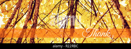 Composite image of digital image of happy thanksgiving day text greeting - Stock Photo