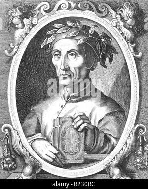 DANTE ALIGHIERI (c 1265-1321) Italian poet - Stock Photo