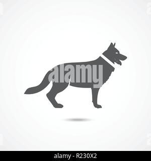 German Shepherd icon - Stock Photo