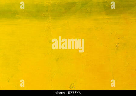 Close up of yellow abstract art painting.  - Stock Photo