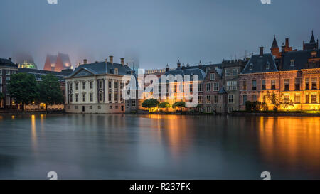 Government buildings in the centre of Den Haag, Netherlands - Stock Photo