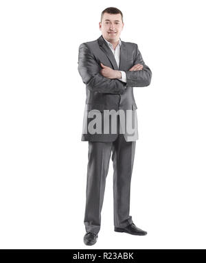 in full growth. portrait of a successful businessman