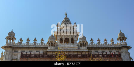 Top of Jaswant Thada cenotaph in Jodhpur, India. It was built by Maharaja Sardar Singh of Jodhpur State in 1899. - Stock Photo