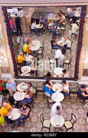 Rio de Janeiro, Brazil - November 2011:  Confeitaria Colombo Cafe and restaurant - Stock Photo