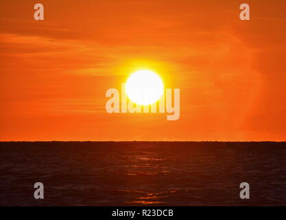 Clearwater, Florida. October 21,2018 Colorful sunset close Pier 60 at Clearwater Beach - Stock Photo