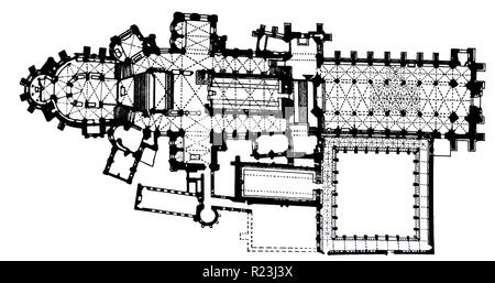 Canterbury cathedral floor plan Stock Photo: 104966948 - Alamy