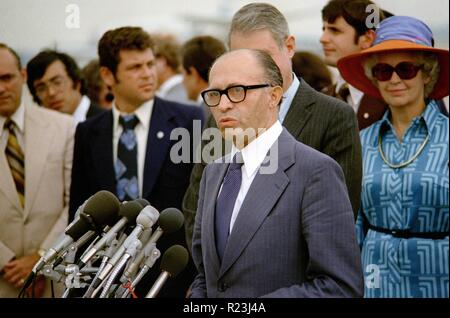 Menachem Begin (1913-1992) was an Israeli politician, founder of Likud and the sixth Prime Minister of the State of Israel. 1978 - Stock Photo