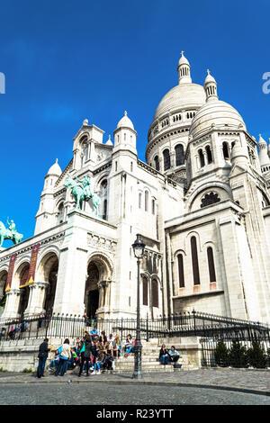 PARIS, FRANCE - MAY 26, 2015. Sacre Coeur Basilica in Paris. - Stock Photo