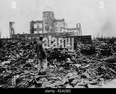 World War II, after the explosion of the atom bomb in August 1945 Hiroshima, Japan