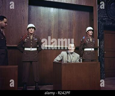 Hermann Wilhelm Goring ( 1893 - 15 October 1946) German politician, of the Nazi Party (NSDAP), on trial at the Nuremburg War Crimes Trials 1946 - Stock Photo