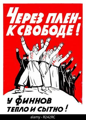 Finnish propaganda poster, 1939 - Stock Photo