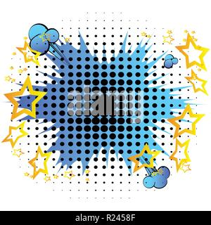 Vector comic book explosion. Comic style cartoon background for your text. - Stock Photo