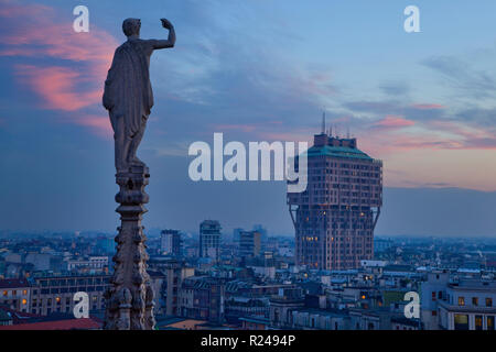 Torre Velasca, Milan, Lombardy, Italy, Europe - Stock Photo
