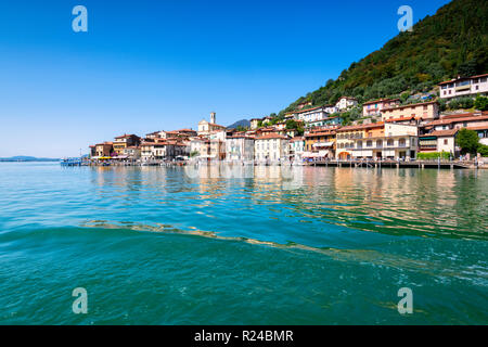 Peschiera Maraglio, Monte Isola, the largest lake island in Europe, Province of Brescia, Lombardy, Italy, Europe - Stock Photo