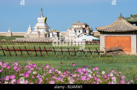 The Golden Stupa at Erdene Zuu Monastery, Mongolia - Stock Photo
