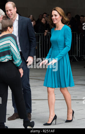 London, UK. 15th Nov 2018. To mark Anti-Bullying Week, The Duke and Duchess of Cambridge visit The BBC to view the work the broadcaster is doing as a key member of The Duke's Taskforce on the Prevention of Cyberbullying. Credit: Nils Jorgensen/Alamy Live News - Stock Photo