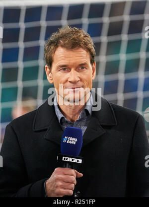 Leipzig, Germany. 15th Nov 2018. Jens LEHMANN, Ex Profi, Co Moderator, RTL GERMANY - RUSSIA 3-0 Important: DFB regulations prohibit any use of photographs as image sequences and/or quasi-video.  Football friendly match, test, Season 2018/2019,  November 15, 2018  Leipzig, Germany.  Credit: Peter Schatz/Alamy Live News - Stock Photo